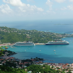 Charlotte Amalie, St. Thomas - From the mountains of St. Thomas