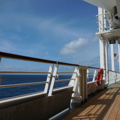 on the promenade deck