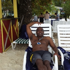 Mahogany Bay, Roatan, Bay Islands, Honduras - on the beach in Roatan