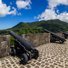 Cannons atop the fortress in St.Kitts