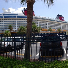 Port Canaveral, Florida - Panoramic of Disney Dream