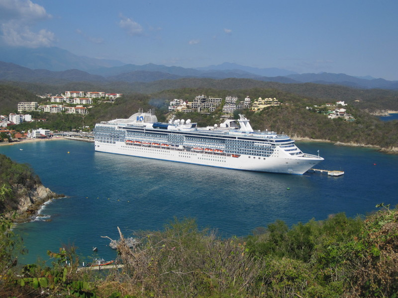 Huatulco, Mexico - The ship from look out on Land and sea tour