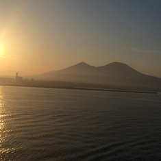 Naples, Italy - Mt. Vesuvius at sunrise