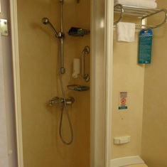 shower area- not large but big enough