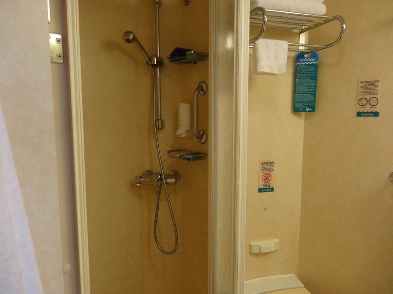 shower area- not large but big enough - Freedom of the Seas