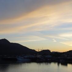 Juneau, Alaska - Sunset in Juneau