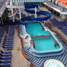 Pool while in Cozumel