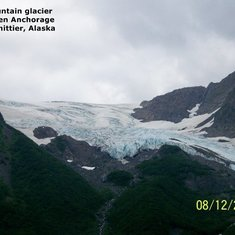Mountain Glacier on the way to Whittier