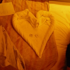 Our towel heart!
