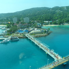 View of Ocho Rios from ship