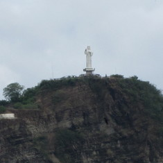 Large Christ statue... largest in Nicaragua