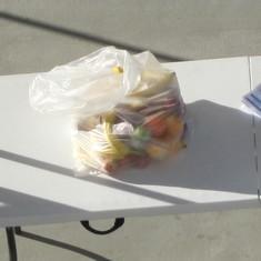 Confiscated fruit in Puerto Vallarta