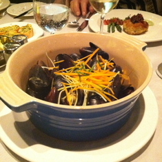 Mussels at Crown Grill on Royal Princess