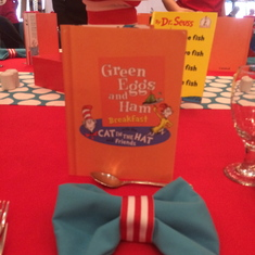 Menu at Seuss brunch