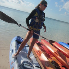 Cococay (Cruiseline's Private Island) - Bonnie Kayaking instructor