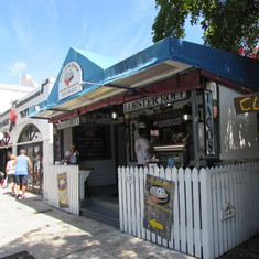 On Duvall St in Key West - Diners, Drive-ins and Dives was here Feb. 2014