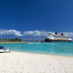 After a Jetski tour around Castaway Cay