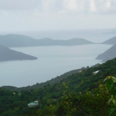 The view from one of the mountain roads