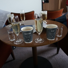 Breakfast - Latte, Champagne, Vodka