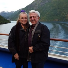 The Kelley's Leaving Geiranger