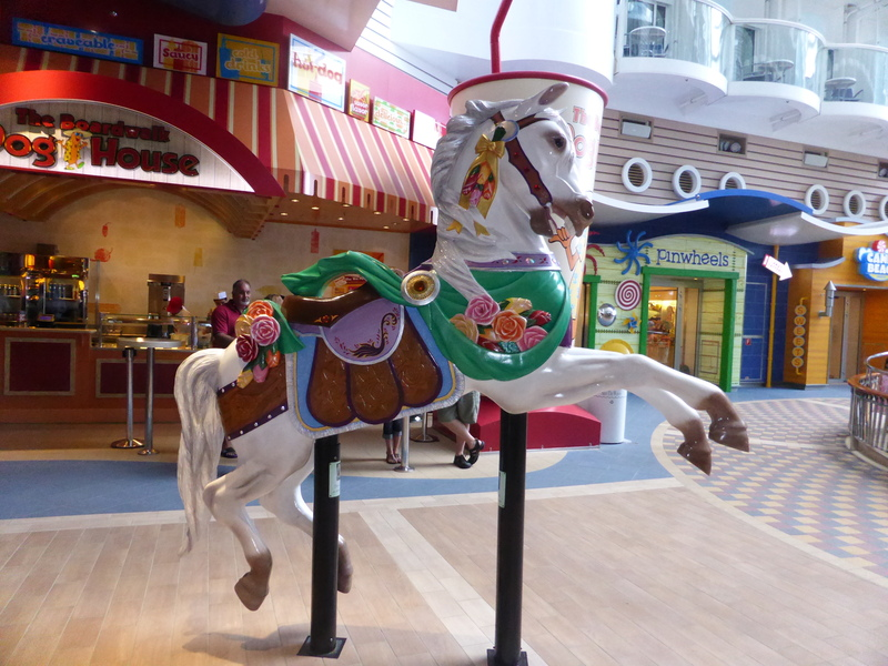 One of several carousel horses on display - Boardwalk - Allure of the Seas