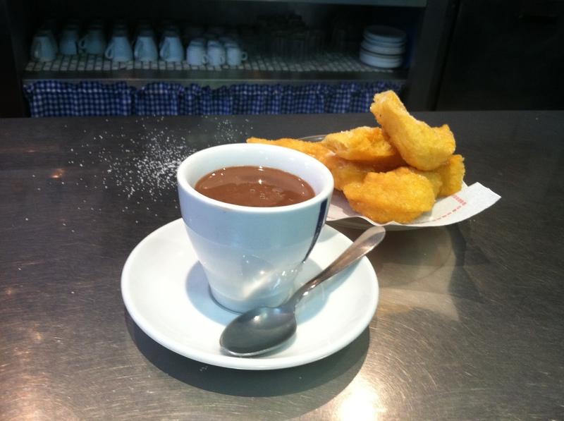 Barcelona, Spain - Churros and Chocolate