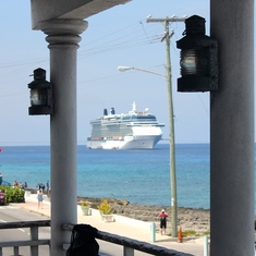 George Town, Grand Cayman - View from Guy Harvey's, Grand Cayman