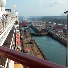 Panama Canal from top deck