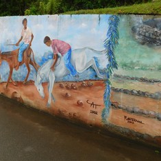 A mural depicting the history of Tortola