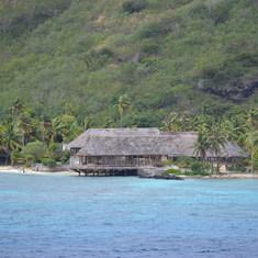 Bora Bora, French Polynesia - Pulling in to Bora Bora