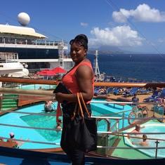 Aft pool deck