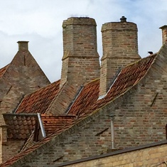 Zeebrugge (Bruges), Belgium - Belgian roof lines