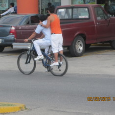 Hitching a ride in Cozumel
