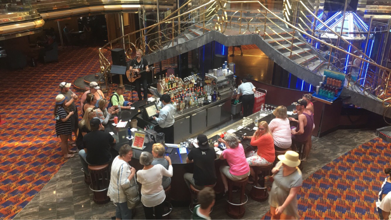 Carnival Ecstasy, Bar, Grand Spectrum Plaza and Atrium Bar