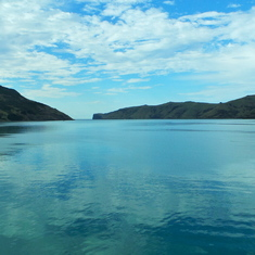 Entry to Akaroa harbour
