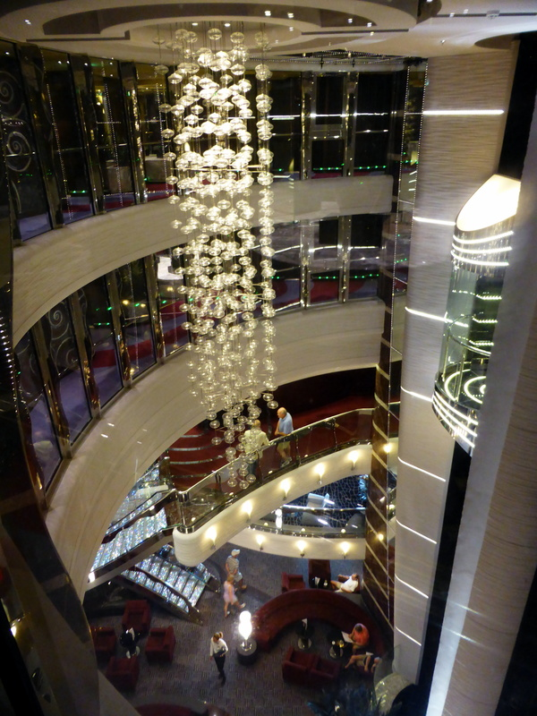 Looking down from our deck to the atrium - MSC Divina