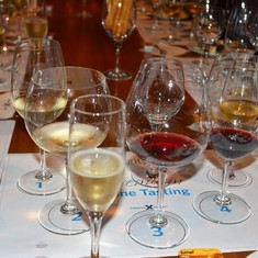 Riedel wine glass tasting