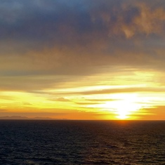 The nicest Pacific sunset of the cruise.