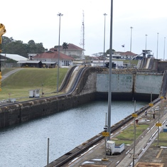 Going through the Canal locks