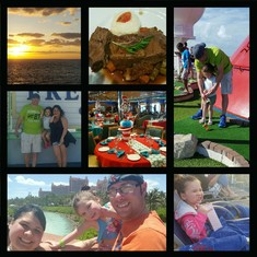 Sunset, braised beef, golf, freeport, Suess Bfast, Dive in movie, Atlantis :)