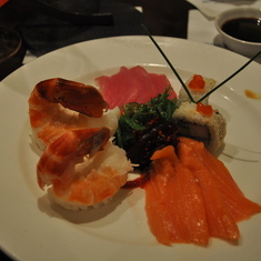 Sushi (paired with wine) in Vines on Royal Princess