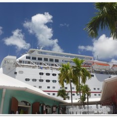 Sensation docked in Freeport