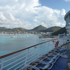 pulling in to St. Martin