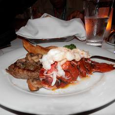 Steak and lobster. Mmmm.