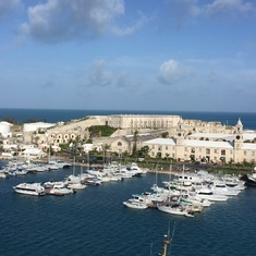 View of Dockyard from balcony