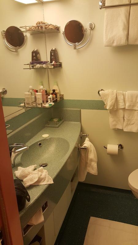 Carnival Liberty cabin 8373 - Bathroom was a nice size