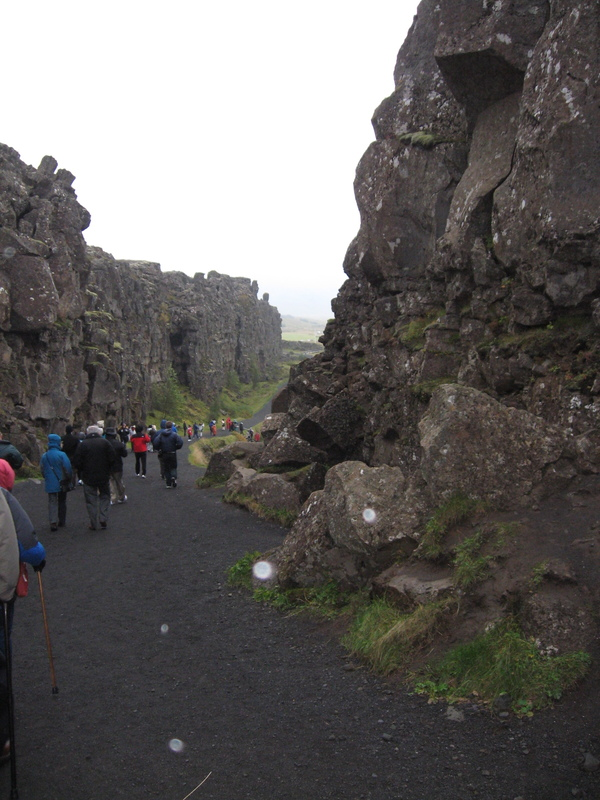 Giant fault, running through the middle Iceland, where West separates from East. - Royal Princess