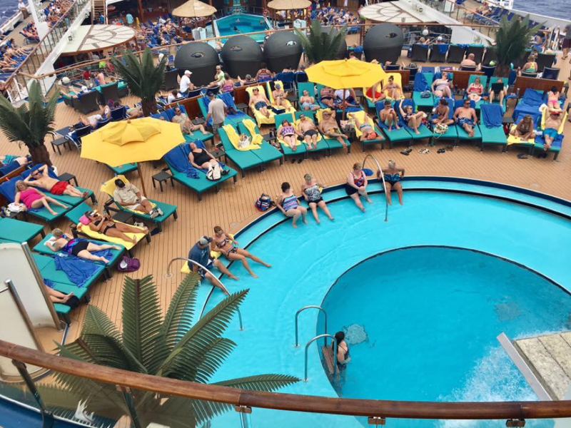 Carnival Sunshine, Pools, Serenity Pool