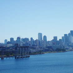 Departure. View of Seattle from Pier 91 on Celebrity Solstice