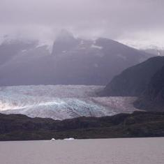 Mendenhall Glacier in Juneau, Alaska, September 2005.